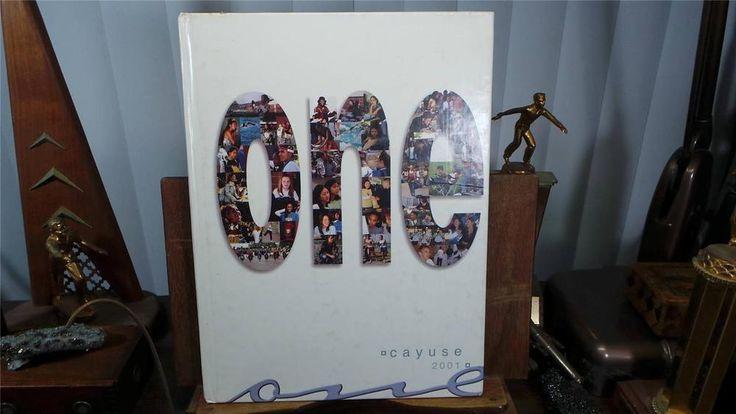 2001 Walnut High School Walnut California Original Yearbook Annual The Cayuse