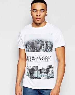 ASOS   ASOS Relaxed T-Shirt With Burnout And LA City Box Print at ASOS