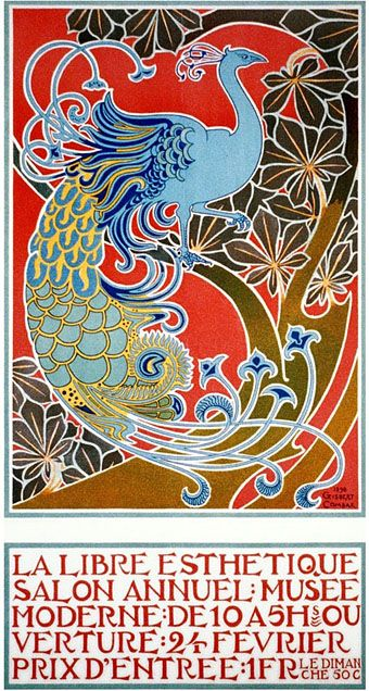 Art Nouveau poster is by Gisbert Combaz (1869–1941)