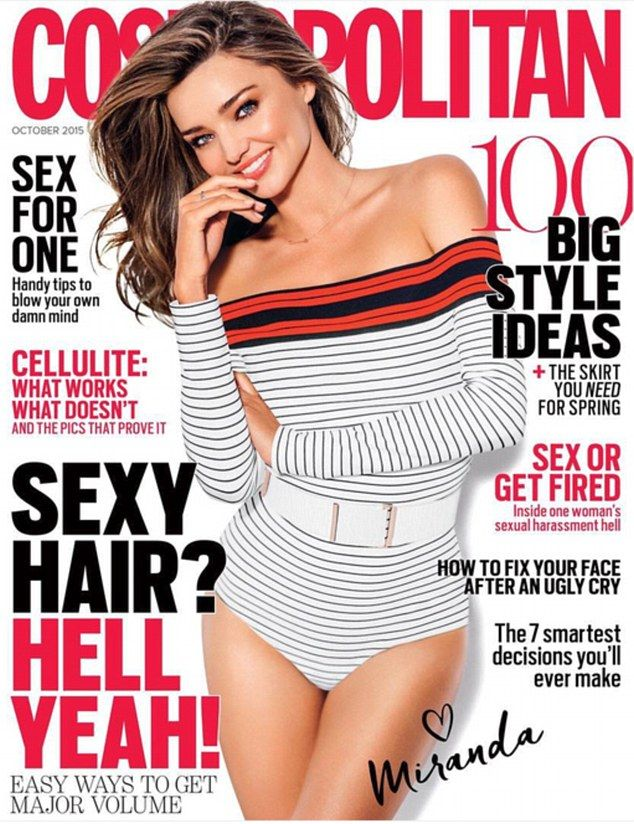 Miranda Kerr by Russell James for Cosmopolitan Australia October 2015 cover