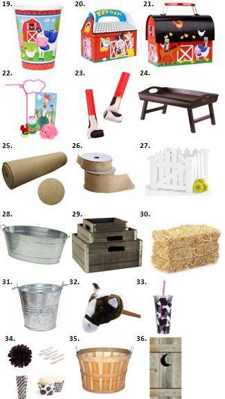 Farm Animal Birthday Party Supplies: