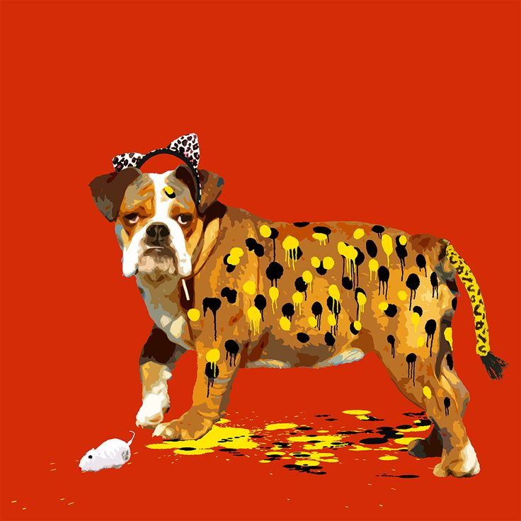 The Dog Who Wanted to be a Leopard / Seasonal Sale £442.00 /Original price £520.00  /By Carl Moore/Animal Pretending Collection http://www.deepwestgallery.co.uk/product-page/7355c29f-6909-2821-2b22-faa8a994ae0b 45 x 45cm on 55x54cm paper \Hand Embellished \Edition of 25
