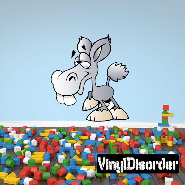 Bucky the Donkey Cartoon Critter Vinyl Wall Decal Car Sticker TF Color 001