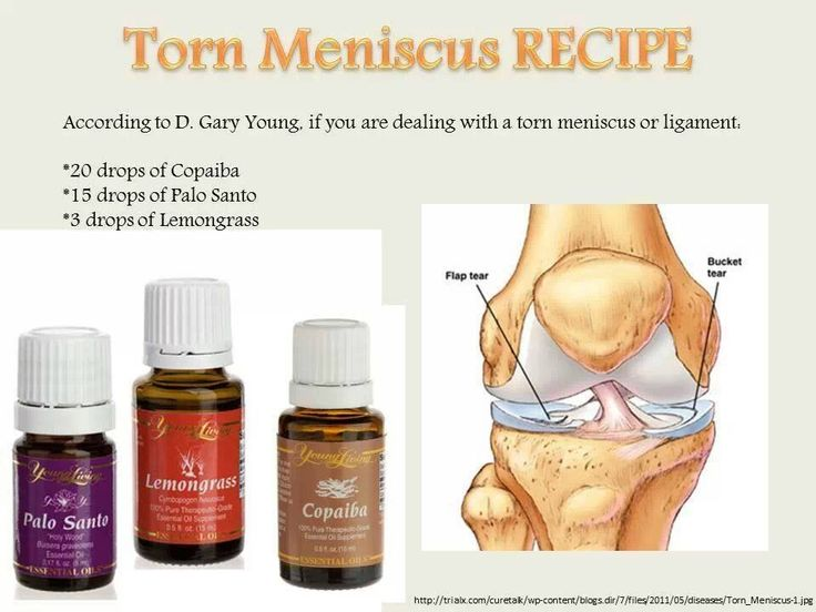 Young Living Essential Oils: Tore Meniscus or Ligament