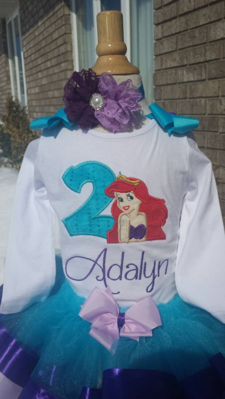Little mermaid shirt by AMcutetutuboutique on Etsy (null)