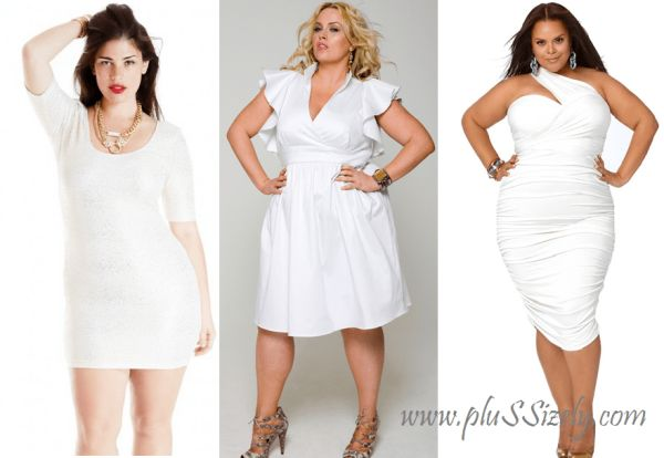 Trend Fashion Plus Size White Club Dresses