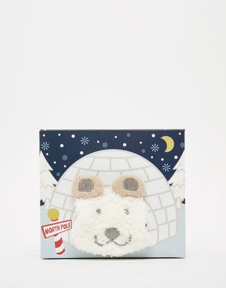 ASOS Christmas Polar Bear Cosy Sock In Igloo Box Gift Set