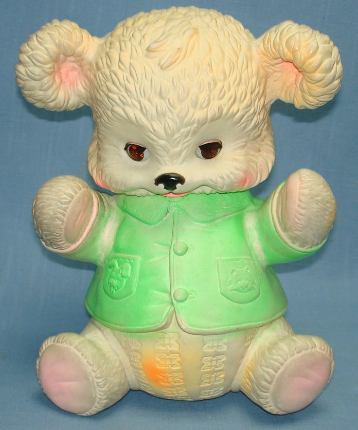 vintage baby toys for sale | ... BABY SQUEEZE TOY SLEEPY EYES BEAR - Vintage-Toys-For-Sale.com (item