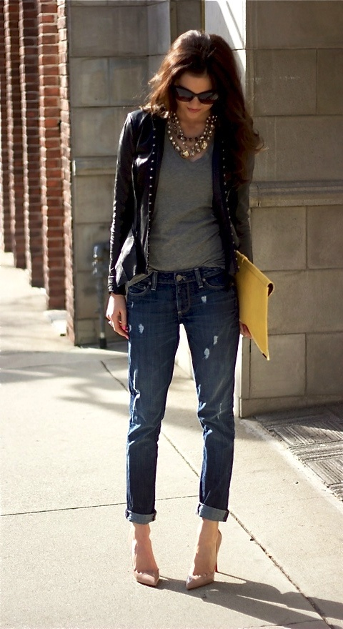 Boyfriend Jeans With A Fitted Blazer Fashion Changes