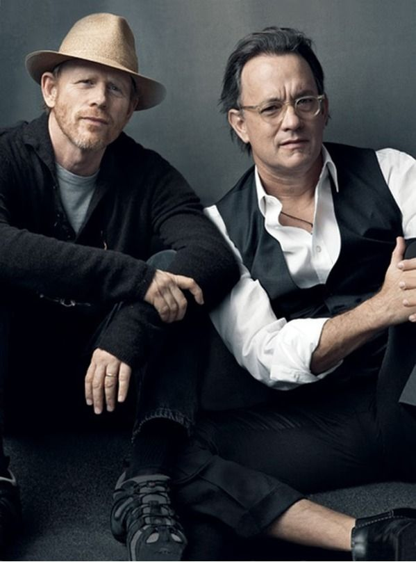 Photo of Ron Howard & his friend actor  Tom Hanks - Los Angeles