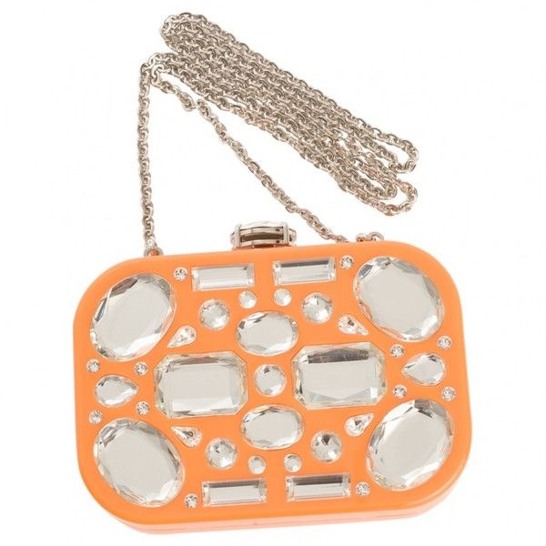 Pre-owned Miu Miu Orange Clutch Bag ($900) ❤ liked on Polyvore featuring bags, handbags, clutches, orange, women bags clutch bags, white clutches, orange purse, preowned handbags, white purse and miu miu handbags