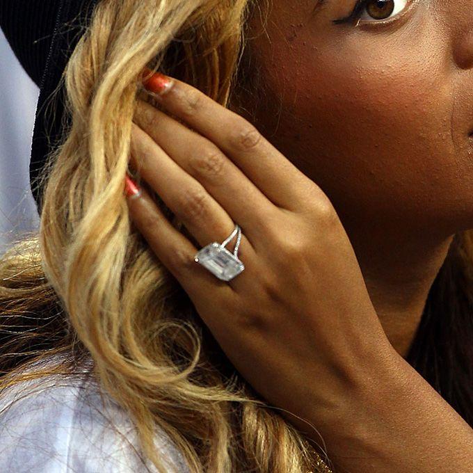 Brides: Our Favorite Celebrity Engagement Rings | Wedding Dresses %26 Style | Brides.com ~ beyonce's