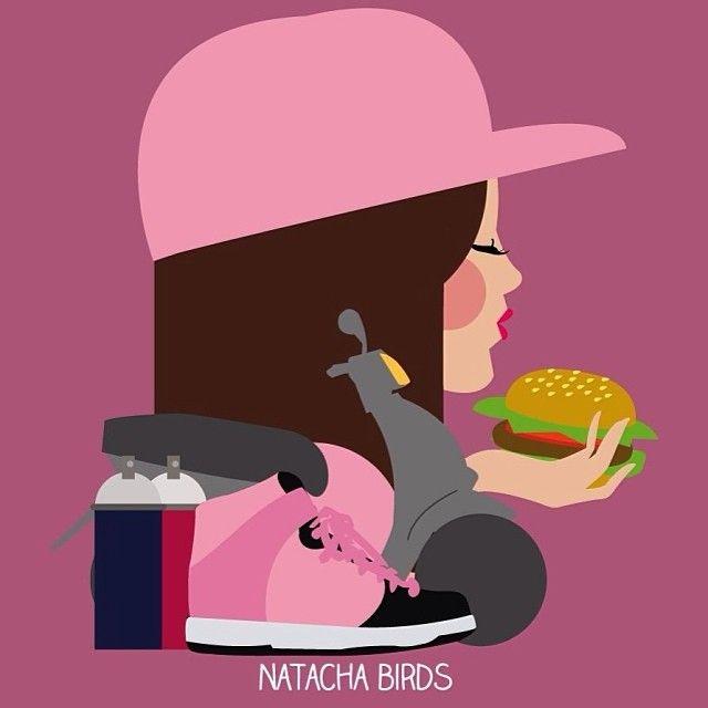 I'm a gangsta girl by Natacha Birds