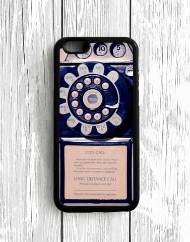 Blue Payphone iPhone SE Case