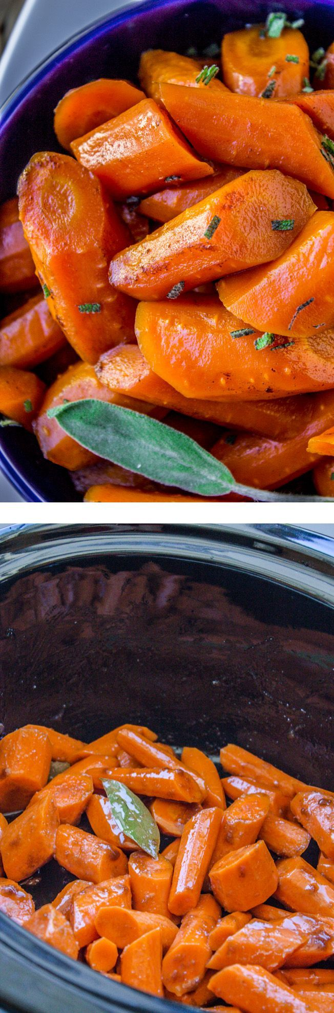 Slow Cooker Brown Butter Carrots from The Food Charlatan // These sweet tender carrots get a boost from my favorite ingredient of all time: brown butter. An additional secret ingredient that you might not guess puts the flavor of these carrots over the top! A perfect (and EASY) side dish for Thanksgiving or Christmas! #ad
