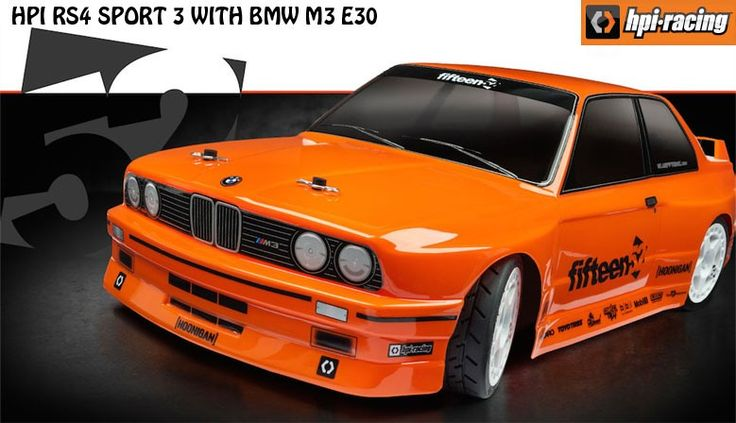 HPI RS4 SPORT 3 WITH BMW M3 E30 Body