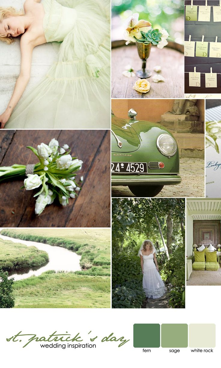 I love this green wedding theme - even if it wasn't St. Patrick's day themarriedapp.com hearted <3