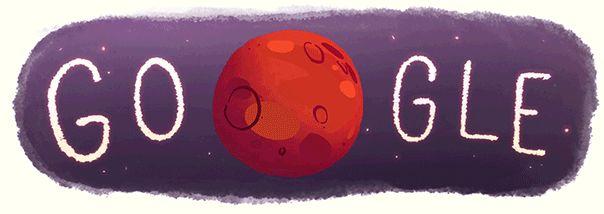 """Google  Doodle: Fließendes Wasser auf dem Mars  Forscher entdecken flüssiges Wasser auf dem Mars, das es in der kalten Wüstenwelt eigentlich nicht geben dürfte. Darauf deuten Messdaten der Raumsonde """"Mars Reconnaissance Orbiter"""" hin.  http://doodlefinder.de/mars  #Mars   #Wasser   #GoogleDoodle   #NASA"""