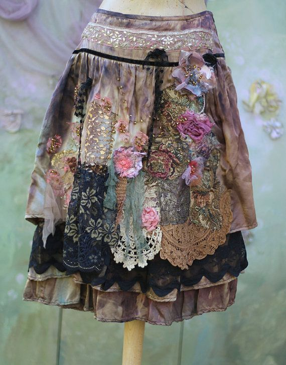 Barocco skirt II bohemian romantic altered by FleursBoheme