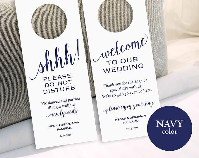 The 25+ best Wedding door hangers ideas on Pinterest Hangers for - banking and financial door hanger template
