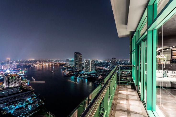 Balcony view from the Chatrium Hotel Riverside Bangkok, Thailand