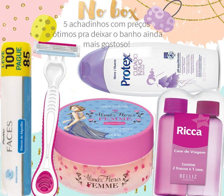 no box produtos baratos de banho: Instagram @ jurovalendo