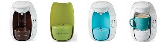 Tassimo T20 Brewbot Coffee Maker   3 - Colored Inserts & 1 Package of Tassimo Coffee