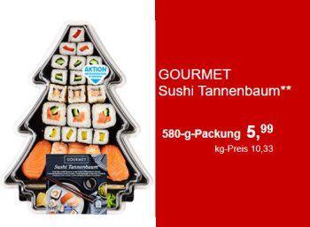 """Aldi-Süd: Sushi-Tannenbaum für 5,99 Euro ab Freitag https://www.discountfan.de/artikel/essen_und_trinken/aldi-sued-sushi-tannenbaum-fuer-599-euro-ab-freitag.php Wer lieber Nigiri statt Nougat und Maki statt Mandelherzen mag, kommt bei Aldi-Süd am kommenden Freitag auf seine Kosten: Im Angebot ist ein """"Sushi-Tannenbaum"""" für 5,99 Euro. Aldi-Süd: Sushi-Tannenbaum für 5,99 Euro ab Freitag (Bild: Aldi-Sued.de) Der Sushi-Tannenbaum von Aldi-Süd... #Sushi"""