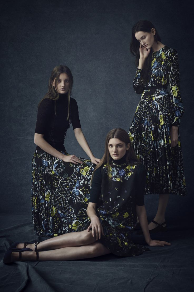 patchwork prints created with torn/layering effect-- insane!! look 12 || Erdem || Pre-Fall 2016