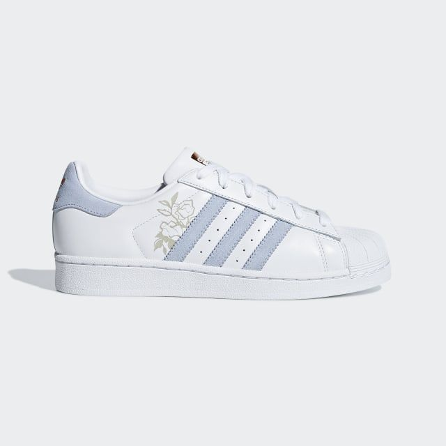 Adidas Superstar Shoes Cloud White / Periwinkle / Copper Metallic ...