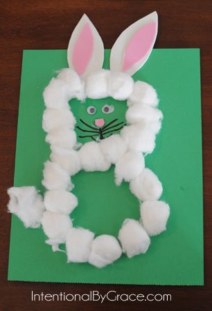 Letter B Craft - Before Five in a Row: The Runaway Bunny - Intentional By Grace