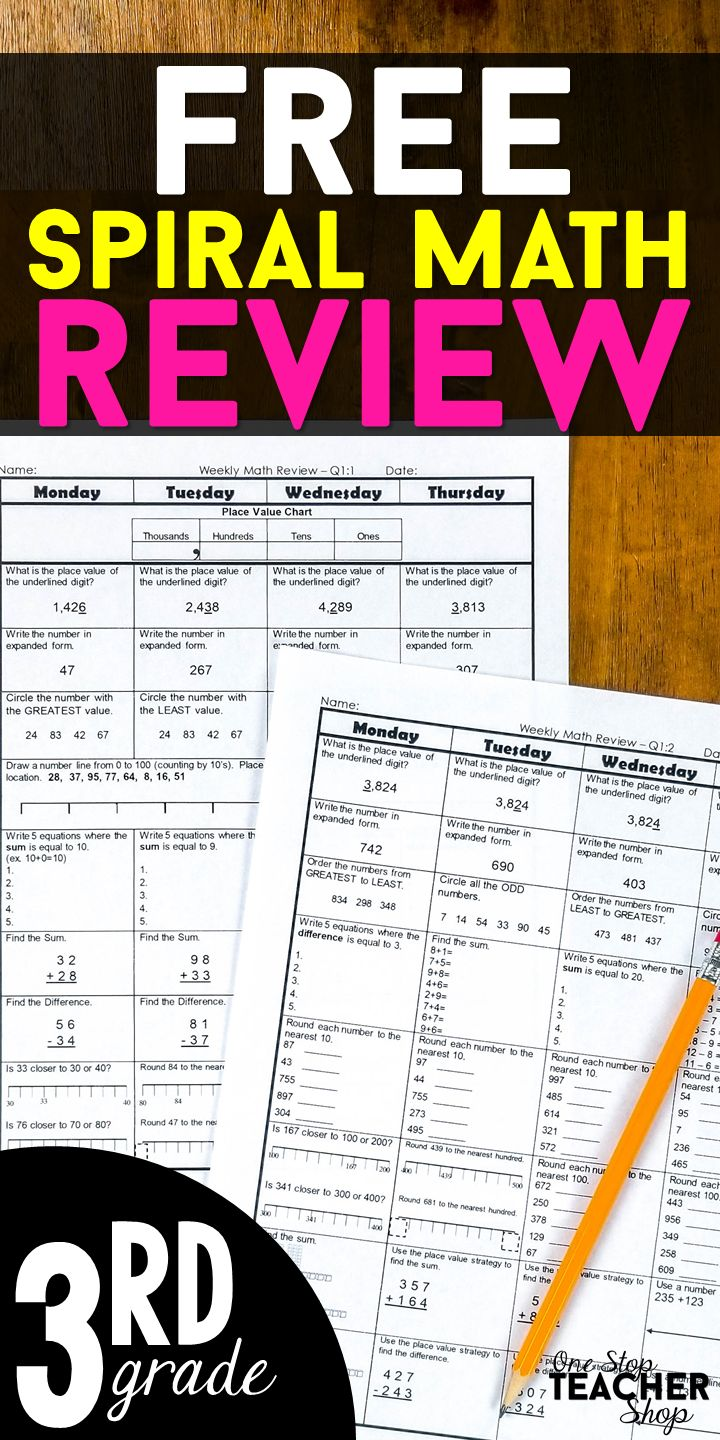 7990 best math images on pinterest school spiral math and this 3rd grade math spiral review is aligned with the common core math standards 100 editable and answer keys included fandeluxe Gallery