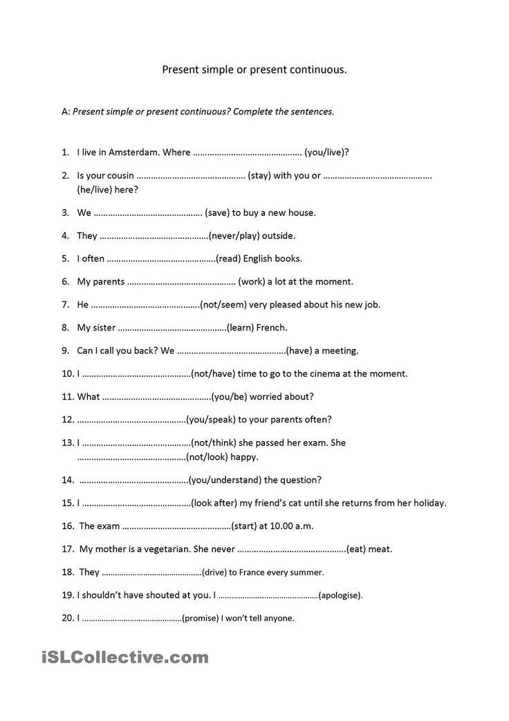 ejercicios ingles presente y pasado simple y continuo pdf