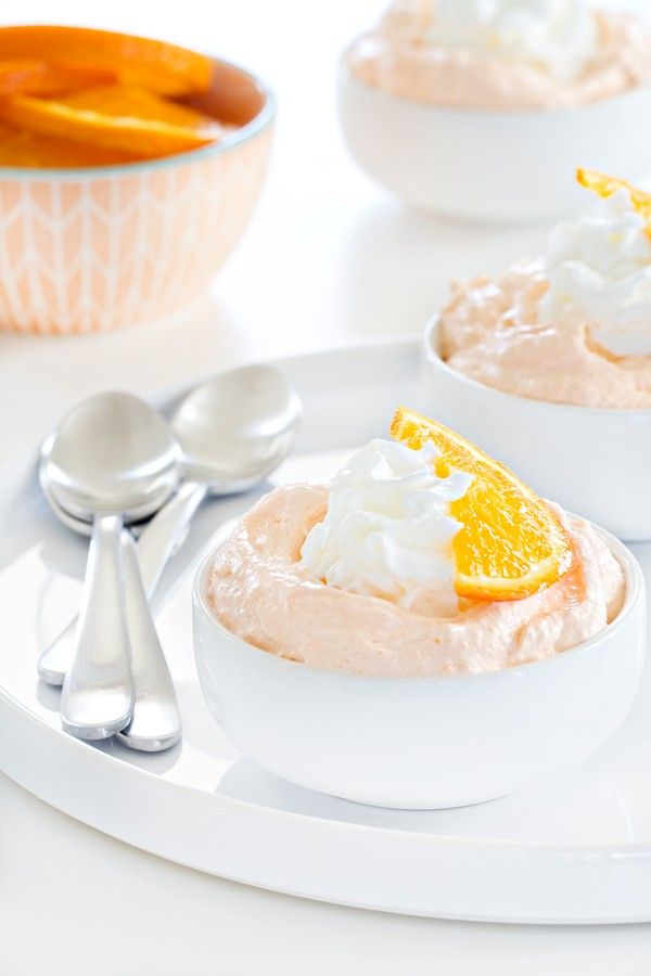 Orange Fluff comes together in a matter of minutes and is the perfect weeknight dessert. So dreamy!