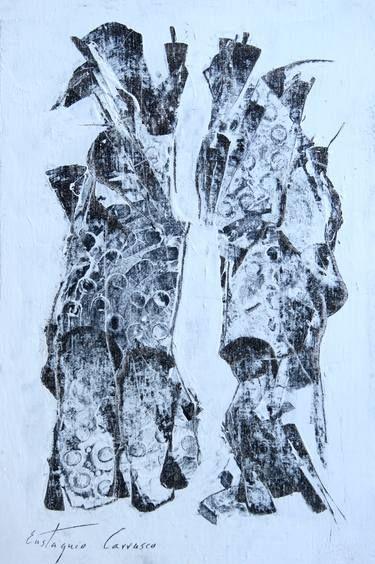"Saatchi Art Artist Eustaquio Carrasco; Painting, ""Two elements that speak in front"" #art"