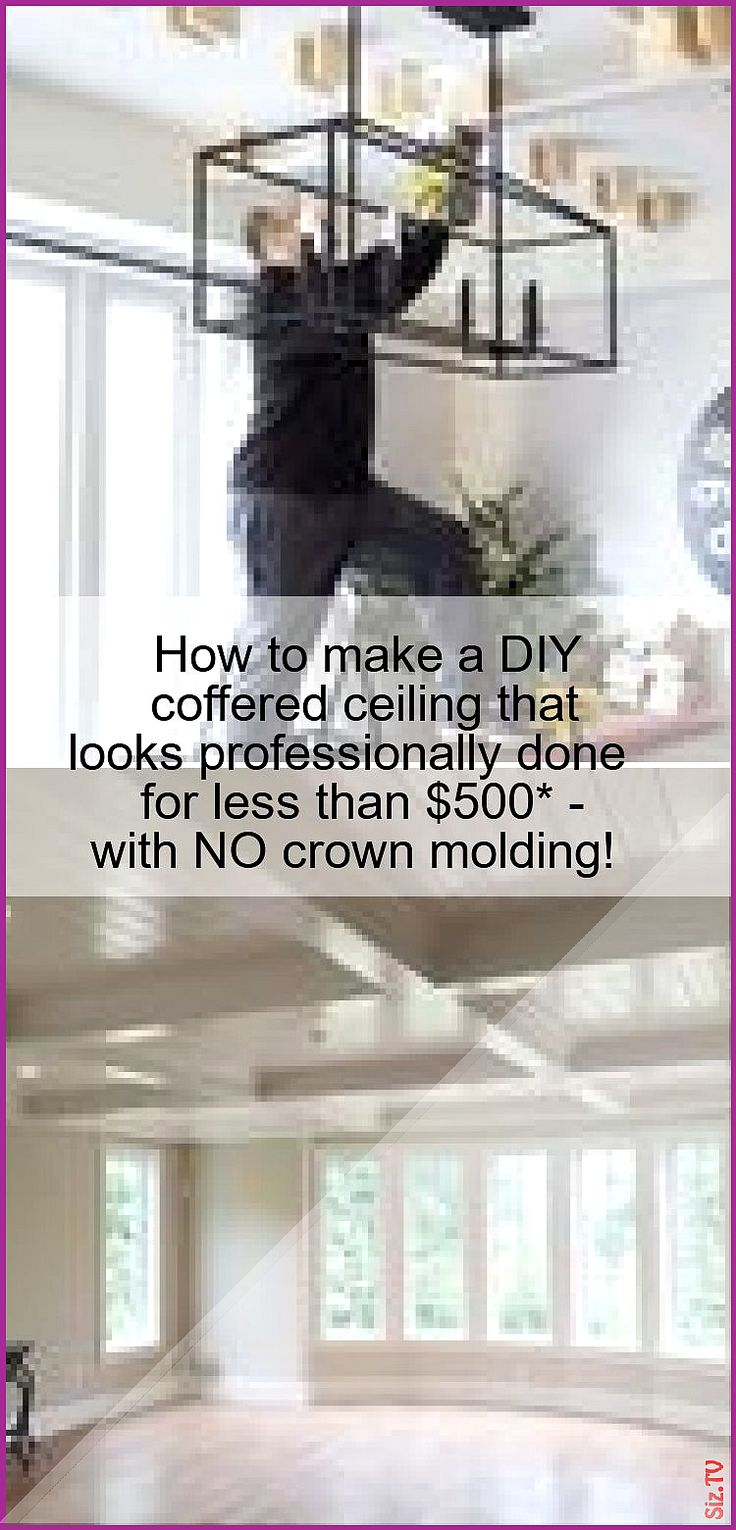 Diy coffered ceiling how to diy a professional looking
