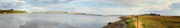 landscape panorama ...  bay, beach, cloud, clouds, cloudscape, coastline, denmark, destination, destinations, dreams, holiday, horizon, idyllic, landscape, mols, nature, ocean, outdoor, outdoors, panorama, panoramic, scandinavia, scene, scenic, sea, seascape, season, sky, stone, stones, tranquil, travel, vacation, vacations, view, water, wave, weather
