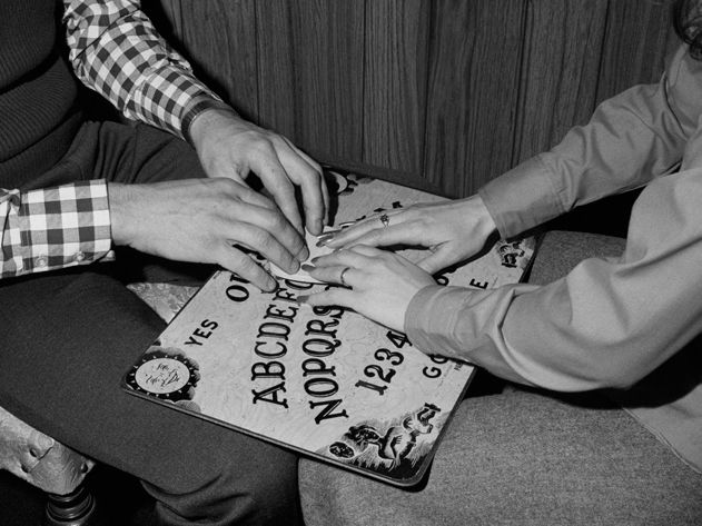 The Ouija Board was marketed as both mystical oracle and as family entertainment, fun with an element of other-worldly excitement. (Bettmann...