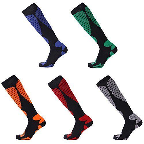 UK Skiing Cycling Sports Long Socks Unisex Mid-calf Socks Tube Socks Durable