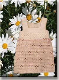 Crochet baby dress.: