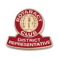 Russell-Hampton Co. Rotary Club Supplies: Rotaract District Representative Lapel Pin