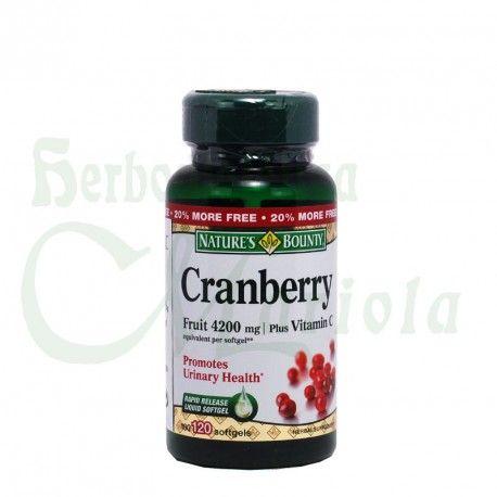 Nature´s Bounty Tongil, perlas de Arándanos agrios Cranberry a base de vitaminas y frutos de arándanos agrio americano, para el cuidado y salud del tracto urinario