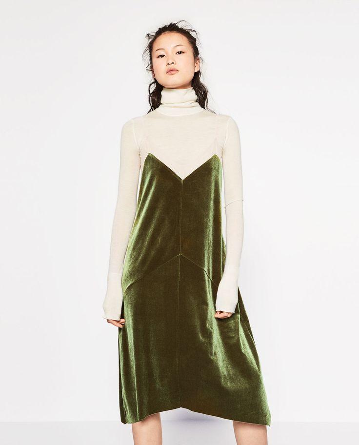 Imagine 2 din ROCHIE DIN CATIFEA de pe Zara