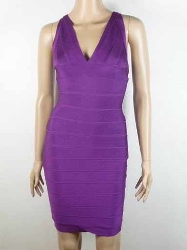 Herve Leger Isabelle Purple Bandage Dress HL00222 is desinged for you,take it home now.  //  white accessories