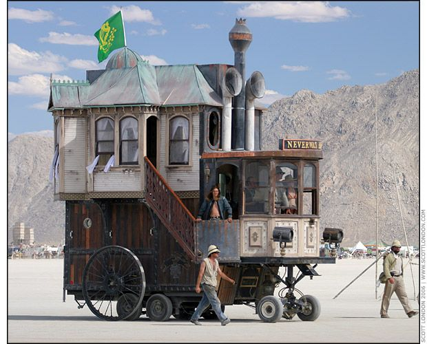 Neverwas Haul Steampunk House From Burning Man Steampunk