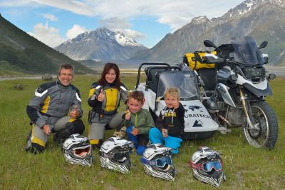 ‪#‎Touratech‬ CEO, Herbert Schwarz, his wife Ramona and their two boys are on their way to Canada to attend the 2014 BMW Motorrad GS Trophy! The team at Touratech-USA is excited to spend some time with this fantastic foursome!