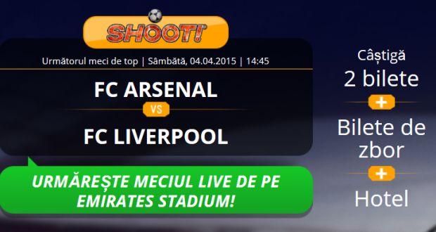 Castiga o excursie la Londra pentru meciul Arsenal vs Liverpool - Ponturi Bune