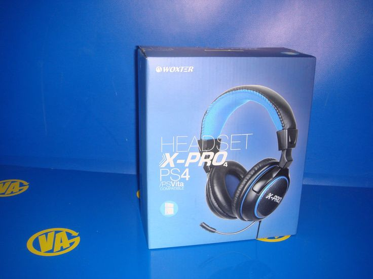 Auriculares para PS4 Headset X-pro PS4/PsVita compatible woxter