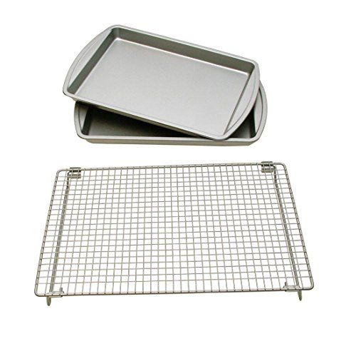 Basic Baking Sheets and Cooling Rack Set Is Perfect For Baking Pressed ** Be sure to check out this awesome product.