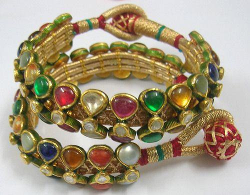 Navratan Kundan Meena Bracelets in Jaipur, Rajasthan, India ...
